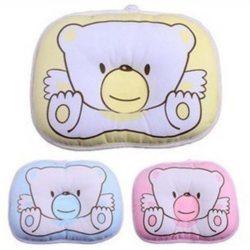 1PCS Newborn Infant Soft Neck Support Print Bear Head Shape Baby Infant Comfortable Sleep Shaping Pillow