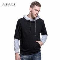 ASALI 2017 Hoodies Men Brand Patchwork Sweatshirt Male Hoody Hip Hop Autumn Winter Hoodie Mens US