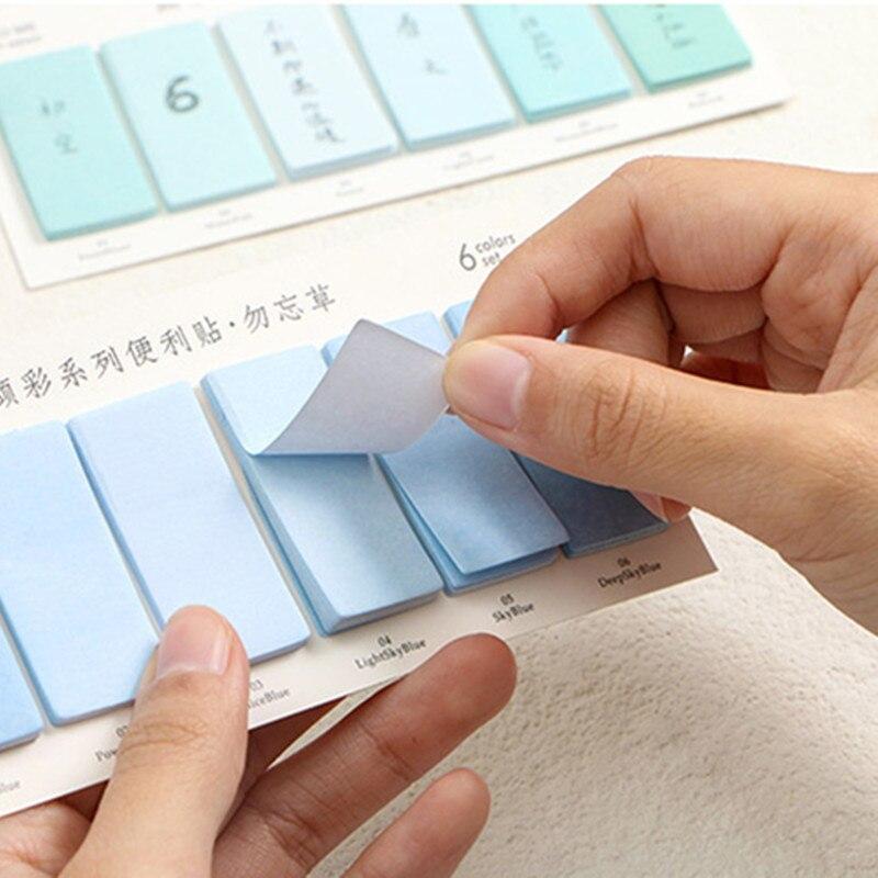 6 spalvų rinkinys mielas naujumas lipdukai atmintinės bloknotas - Bloknotai ir užrašų knygelės - Nuotrauka 4