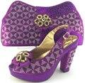 Sapato italiano com saco de harmonização de alta qualidade set com applique e diamantes para o partido africano mulheres de sapato e bolsa para combinar! MJY1-39
