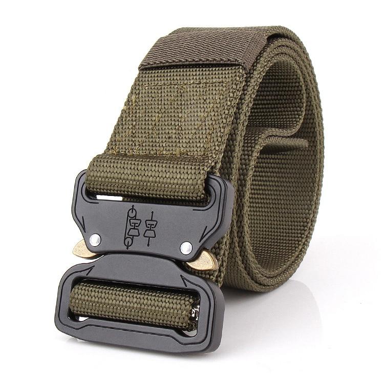 Swat Combat Military Equipment Tactical Belt Men 1000d Nylon Metal Buckle Knock Off Belts Us Army Soldier Carry Waist Belt Novel (In) Design;