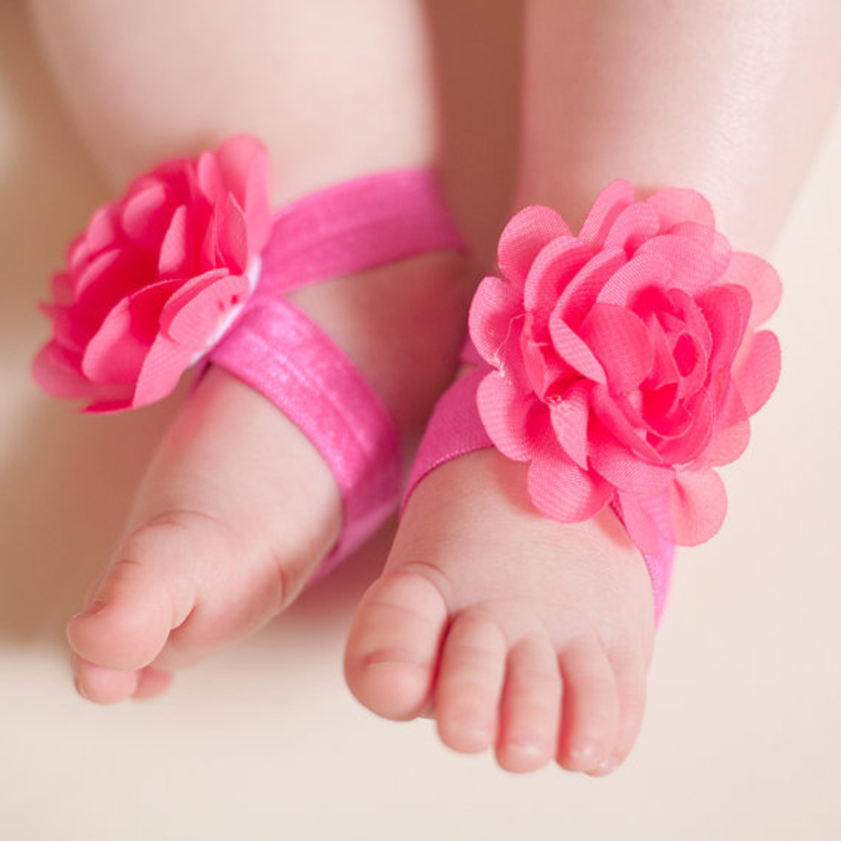 Baby Kids Girls Infant Toddler Barefoot Foot Flower Band Sandals Socks
