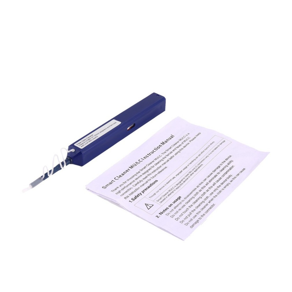 1.25mm 800 Keer Een Klik Glasvezel Connector Smart Cleaner Pen Schoonmaken Tool Universele Voor Lc Mu Adapter Beentje Fijn Verwerkt