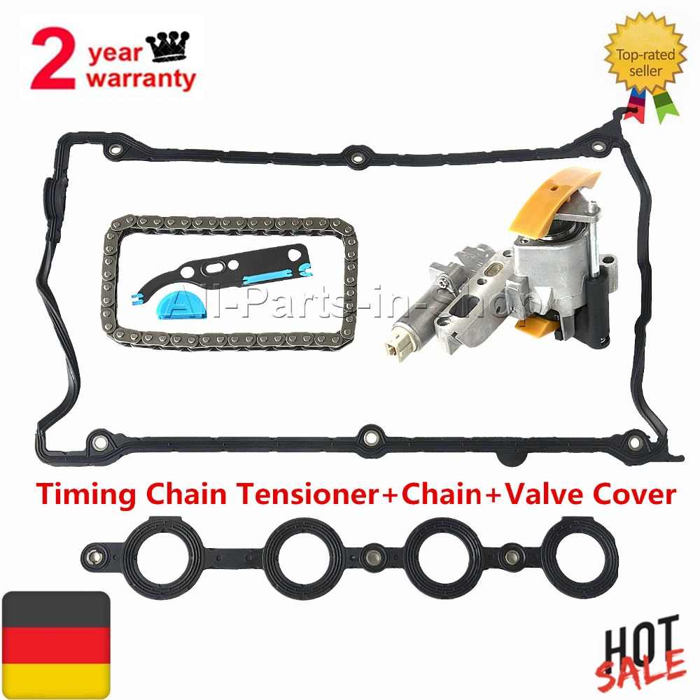 AP01 Timing Chain Tensioner+Chain+Valve Cover for Audi Seat Skoda VW 1.8L 058109088B, 058109088E, 058109088L, 058109088K
