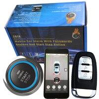 Смартфон gsm и Автомобильный gps сигнализация совместима с ios и android телефон двигателя автомобиля start stop системы дистанционного Smart key PKE