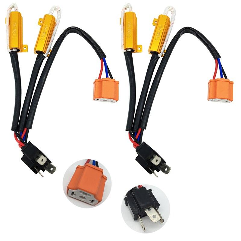 High Quality 2PCS 50W 8Ohm Headlight Load Resistor Fog font b Lamps b font Decoder LED
