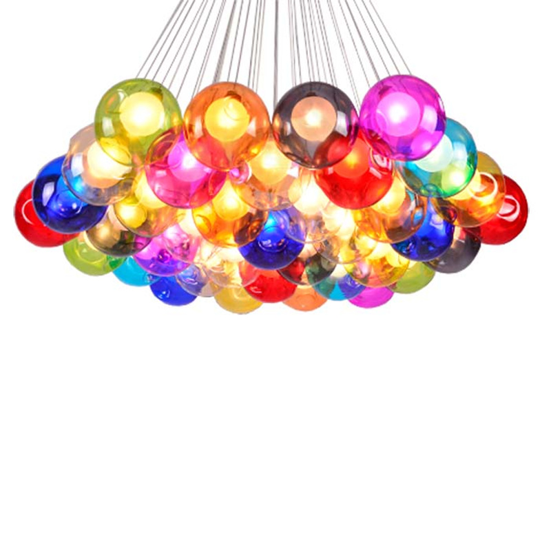 Pendant Lights Temperate Wongshi Colorful Glass Ball Pendant Lights G4 Diy Soap Bubble Pendant Lamp For For Home Deco Bar Coffee Living Room Ac85-265v Ceiling Lights & Fans