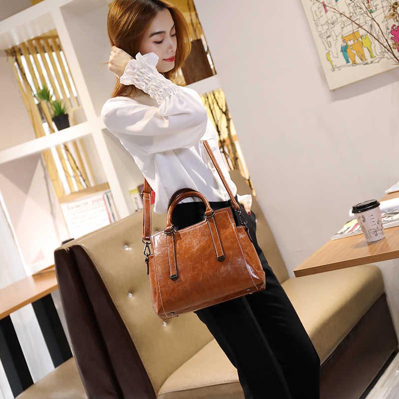 Sac en cuir véritable dames sac à main de luxe célèbre marque concepteur original en cuir femmes sac à main fourre-tout dames Vintage femme T63