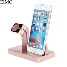 EIMO 2 in 1 Stand Holder For Apple Watch band IPhone Xs Xr X 87 6S 6 Plus 5S Charger iwatch 4 3 watch accessories