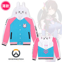 D Va OW Hoodies Cosplay DVA Costume Jacket Sweatshirts Autumn Cotton Clothes Winter For Women Coat