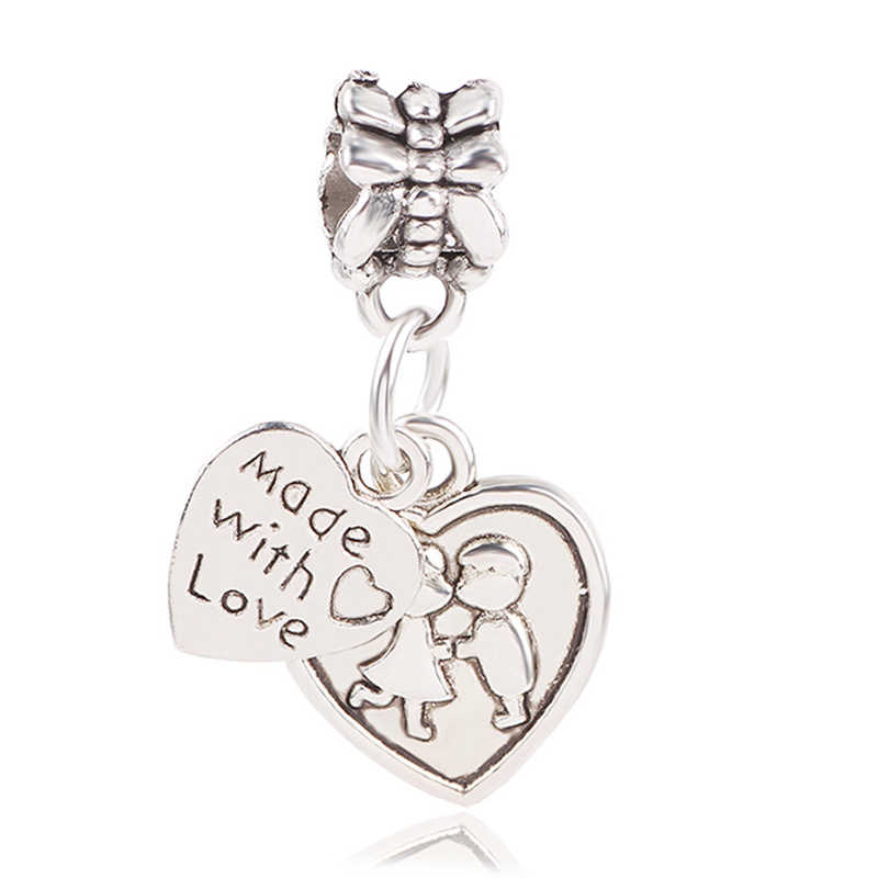 Ranqin оригинальный полый воздушный шар с дизайном «любовь» Микки ухо креативный мешок для денег любовь письмо Fit Pandora кулоны браслеты Сделай Сам Pandora ювелирные изделия
