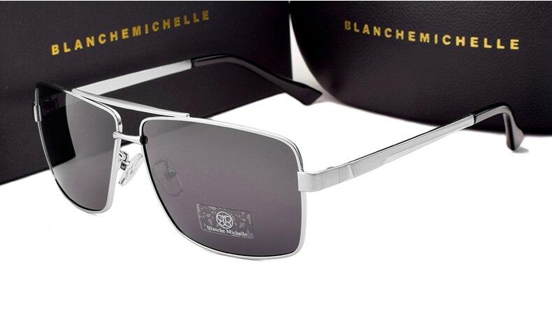 BM 2018 High Quality Rimless Sunglasses Men Polarized Women UV400 Sunglass
