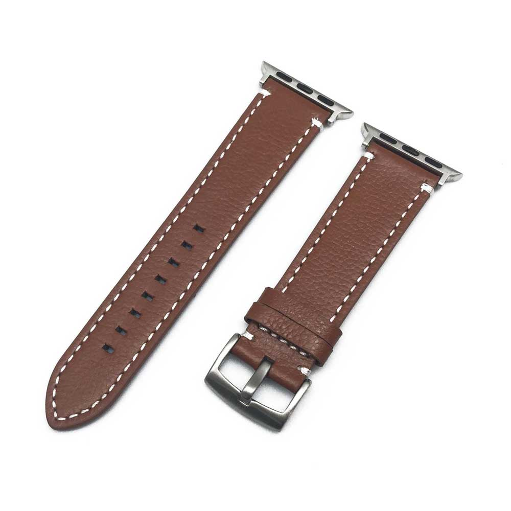 Quality Leather Watchband With Adapters Replacement For Apple Watch Band 42mm 38mm Series 3 2 1 Apple Watch Strap apple watch band 38mm 42mm secbolt metal replacement wristband sport strap for apple watch nike series 3 series 2 series 1