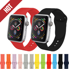 Soft Silicone Sport Strap for apple watch band 44mm apple watch 4 bands 40mm Bracelet for iwatch series 3 2 1 42/38mm accessory top for apple watch band nike silicone replacement sport band for apple series 4 band for iwatch 4 bands 44mm 38mm series 3 2 1
