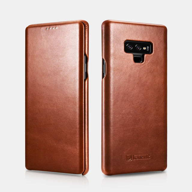 check out 8b1ee 8b340 US $18.24 11% OFF|icarer Genuine Leather Case for SAMSUNG Galaxy Note 9  Cover Phone Case for Galaxy Note9 Real Leather Flip Case-in Fitted Cases  from ...
