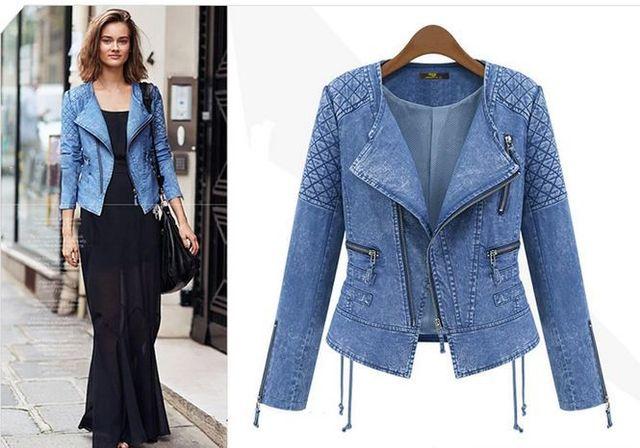 denim jeans veste hiver slim femme vêtements pour femmes 2015 xqYnwX6f6