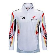 Daiwa Performance Long Sleeve Fishing Shirt UPF 50 Mesh Quick Dry Fit Cooling Running Hiking UV Sun Protection Loose