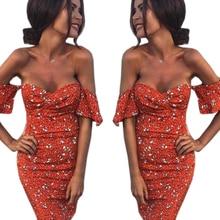 Vestidos 2017 Summer Women flower print Sexy Elegant strapless Dress Bodycon Pack hip Comfortable Pretty dress