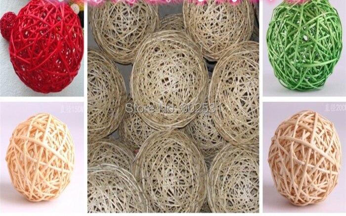 6CM Sepak takraw ball RATTAN BALL CURTAIN DEC Festival personal decoration Charm Pendant HOME DECORATION Free shipping