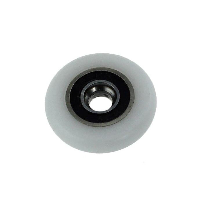 8x Porte De Douche Rouleaux/Coureurs/Pièces De Rechange 25mm roues diamètre, 5mm trou