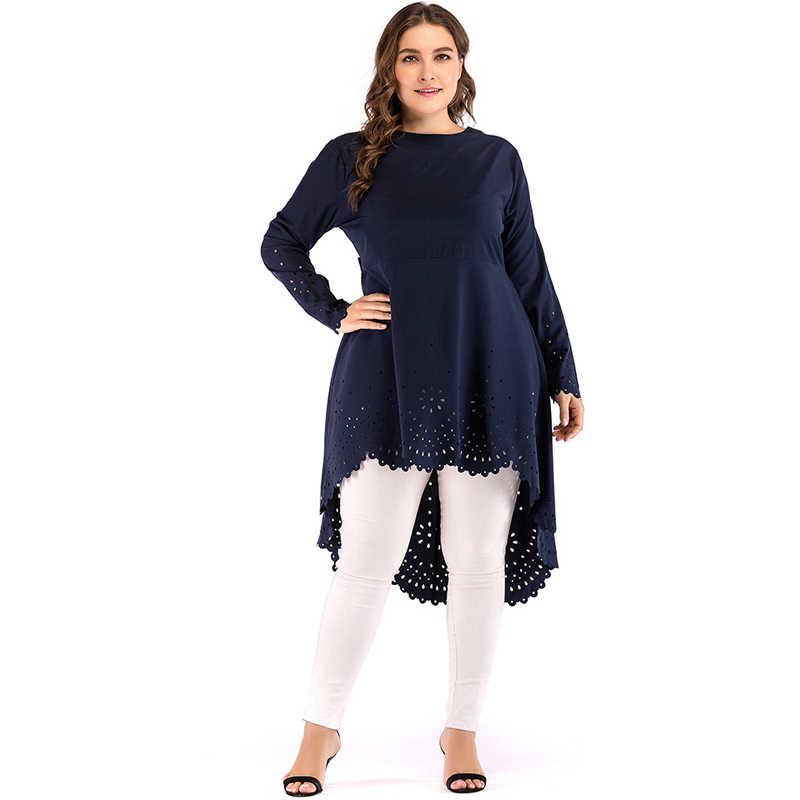 5a569b08973f9 2019 5XL Abaya Dubai Arabic Long Sleeve Muslim Top Turkey Women Long Tops  Saudi Ropa Musulmana Mujer Turkish Islamic Clothing