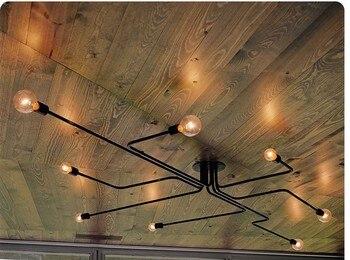 Żyrandol oświetlenie przemysłowe Avize Plafondlamp oprawy oświetleniowe strona główna u nas państwo lampy Pendientes 4, 6,8-Light żelaza żyrandole