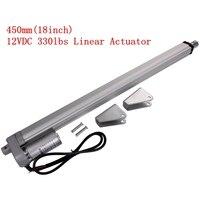Electric Linear Actuator 12v DC Motor 450mm Stroke Linear Motion Controller 4mm/s 1500N Heavy Duty Lifter