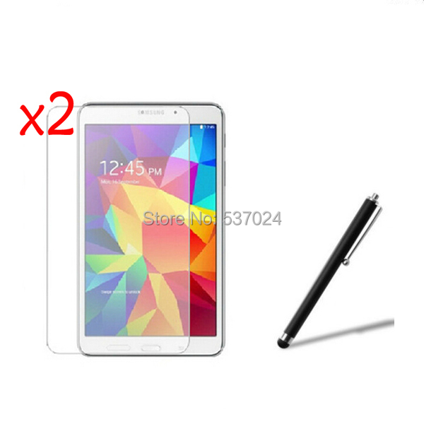 3in1 2x Clear LCD Screen Protector Films Protective Film Guards +1x Stylus Pen For Samsung Galaxy Tab 4 8.0 T330 T331 T335 8