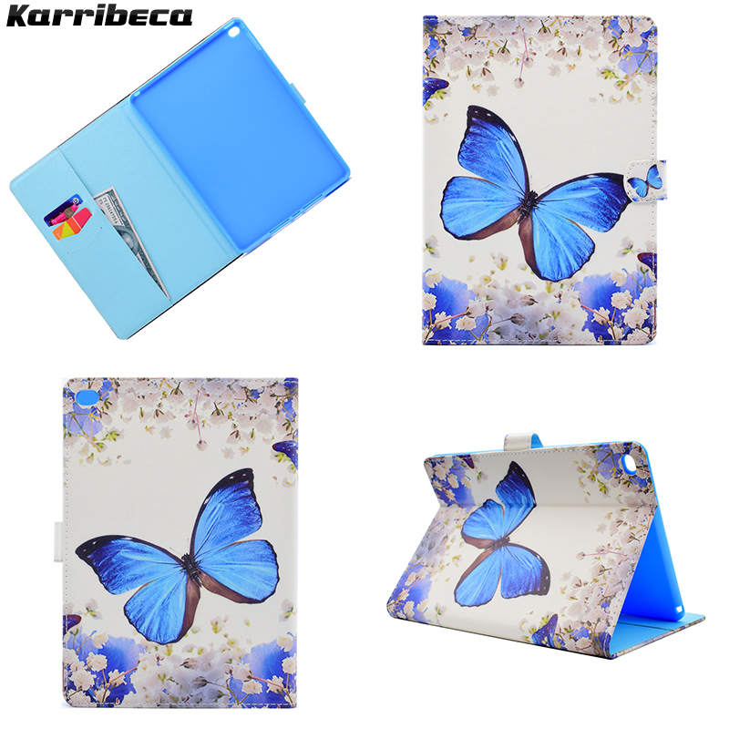 Flower butterfly animal Magnet PU leather case for iPad air 2 tablet cover hoesje coque kryt etui funda puzdra kilif carcasa