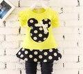 BibiCola Infantil roupa da criança crianças conjuntos de roupas meninas do bebê verão dos desenhos animados Minnie mourse conjuntos de roupas meninas conjunto verão