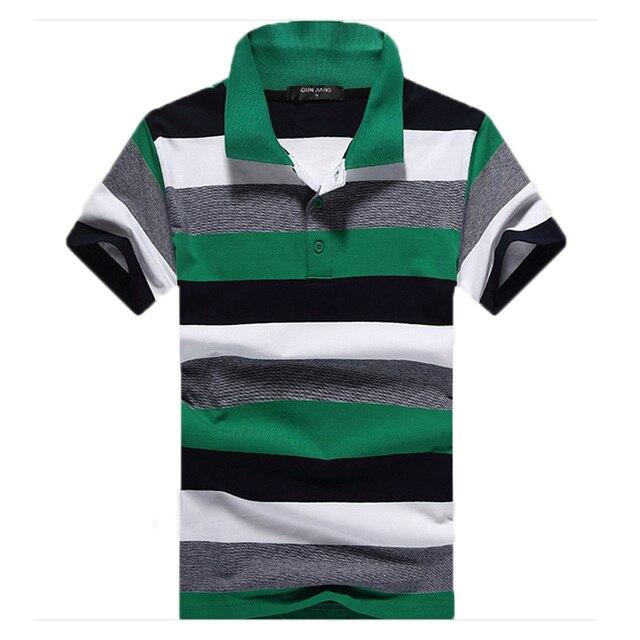 2016 free shipping polo shirt men polo hot sale men's colorful striped  short sleeve polo shirt  summer casual men tops 29
