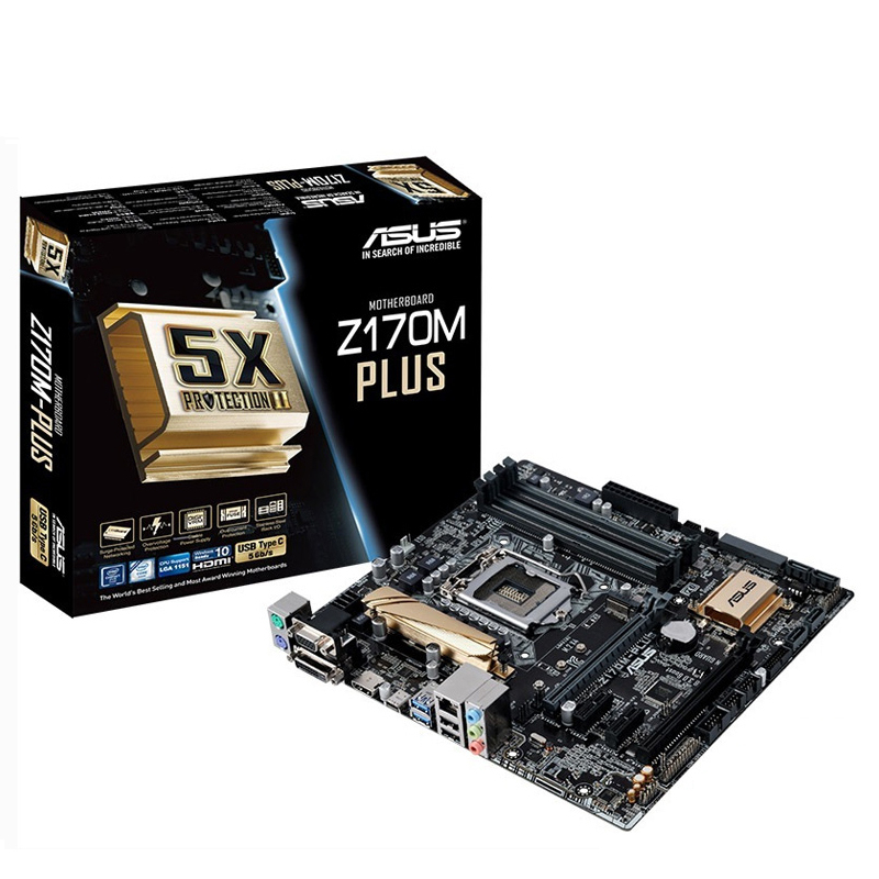 used  original Z170M-PLUS Z170 MATX LGA1151 overclocking game board specifications(China)