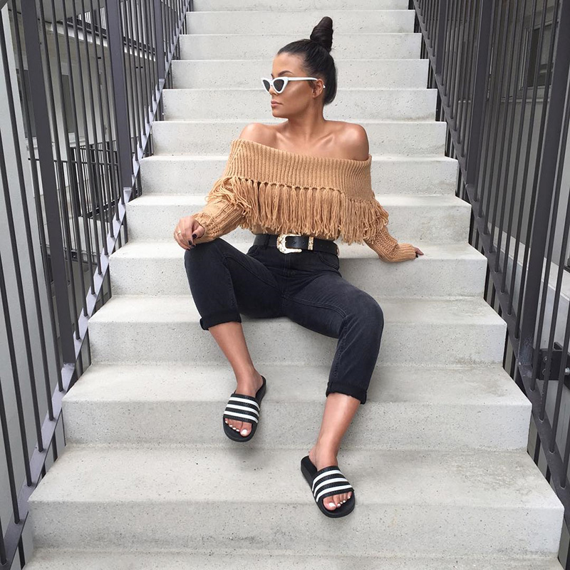 Off The Shoulder Sweater Women (9)