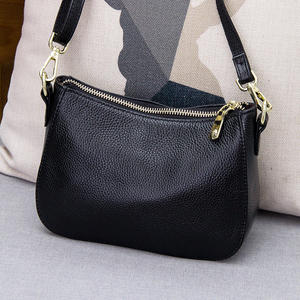Image 1 - Genuine Leather Small Crossbody Bags For Women Fashion Shoulder Bag Ladies Messenger Handbags Luxury Crescent Purse Tote