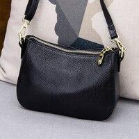 New Item Leisure lady Small bag 2018 style High quality Genuine Leather hand Bag female all match Mini diagonal saddle bag #144