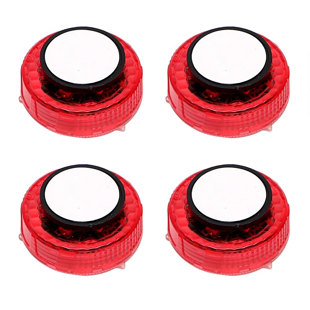Светодиодные сигнальные лампы Красный Анти-автомобиль-стайлинг столкновения сигнальная лампа магнитный контроль мигающий автомобиля света двери Универсальные 4шт/набор