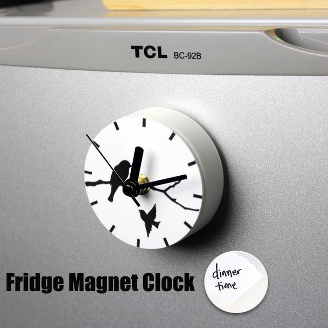 Buy Kitchen Clock Part - 27: Free Shipping White Color Home Decorative Coffee Kitchen Clock Magnetic  Creative Magnet Clock Refrigerator Watch Reloj
