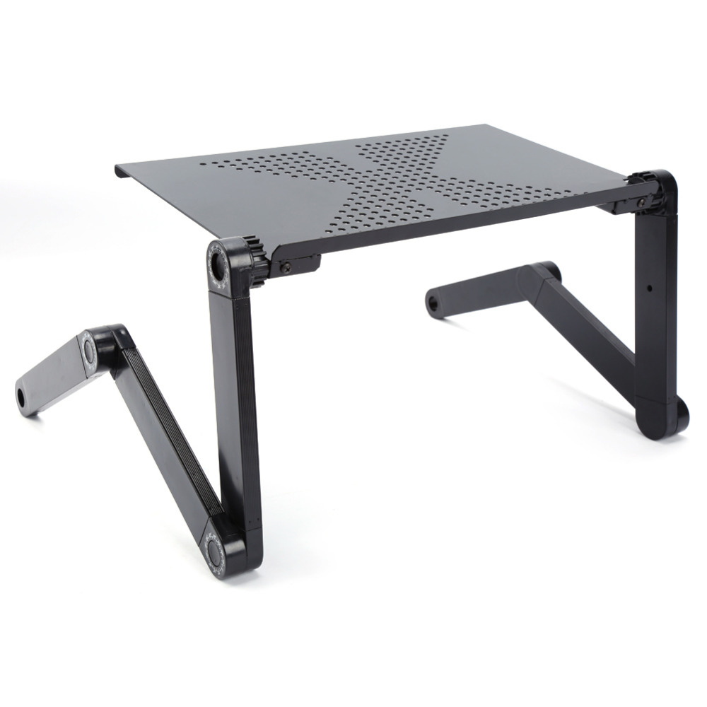 360 Degree Adjustable Laptop Desk Computer Foldable Stand Desk Table Tray Bed Mouse Holder