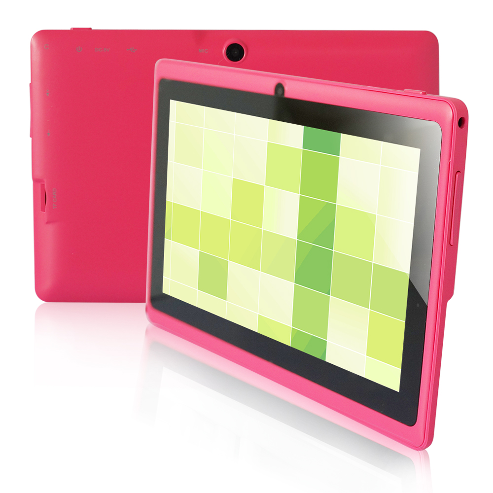 7 inch Tablet PC Yuntab Q88, Android Tablet Allwinner A33, Quad core, 512M RAM+8GB ROM, Supports Google Play Wifi External 3G