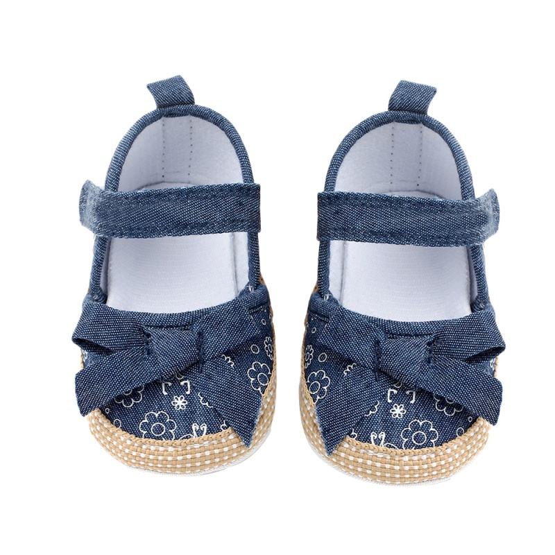 Classic Canvas Baby Girls Shoes Spring/summer Print Shallow Bow Knot Girls Shoes Beach First Walkers Princess Shoes