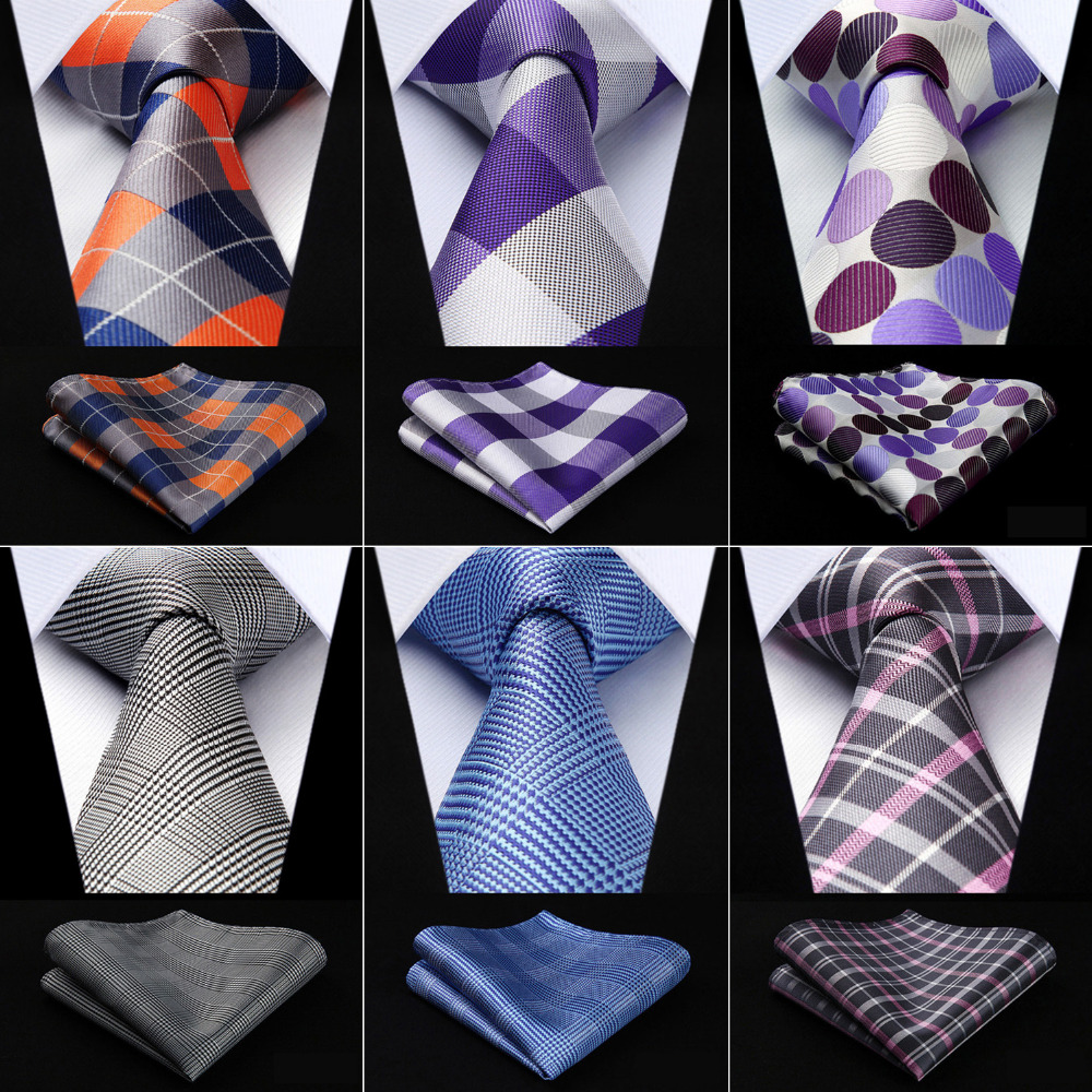 Men's Tie Pocket Square Classic Party Wedding  Fashion Paisley 3.4