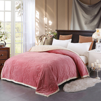 Three Layers Of Solid Color Plus Cotton Thick Blanket Bed Blanket Comfortable Soft