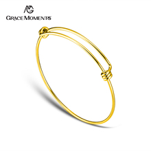 Bracelet Women Bangle Jewelry Expandable-Cuff Cable-Wire Brass Making Gold-Color Thick