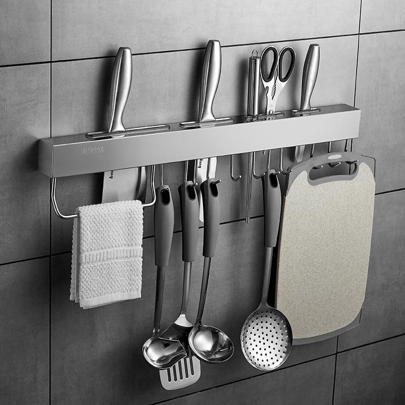 304 Stainless Steel Knife Holder Kitchen Utensils Storage Shelf Kitchen Shelf Kitchen Knives & Accessories Send From Russia