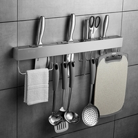 304 Stainless Steel Knife Holder Kitchen Utensils Storage Shelf Kitchen Shelf 2 Installation method Kitchen Knives & Accessories