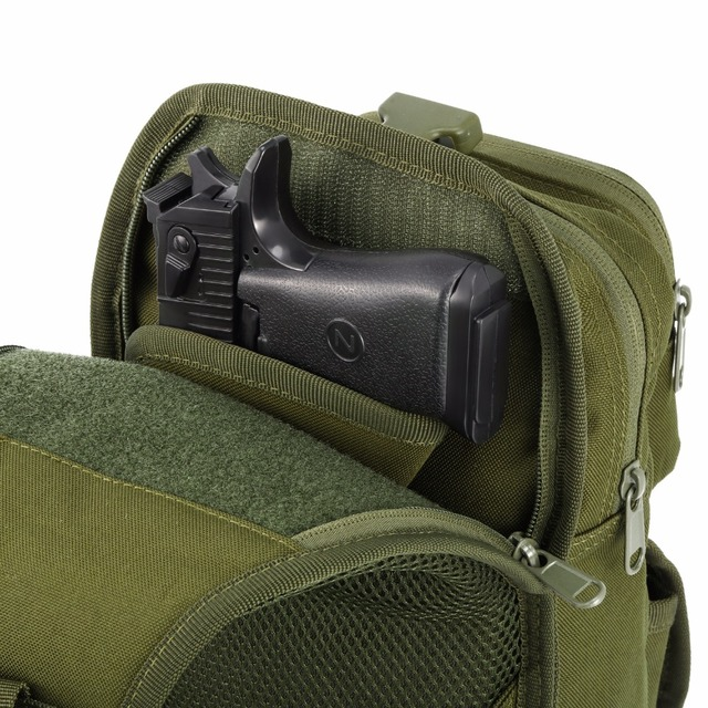 תיק כתף צבאי כולל נרתיק לאקדח 3