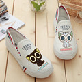 Korean style low graffiti canvas shoes hand painted Women casual shoes
