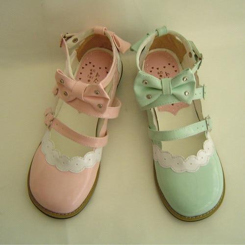 ФОТО Princess sweet lolita gothic lolita  lolita rhinestone cute bow flat heel shoes 8866  lolita lace flats