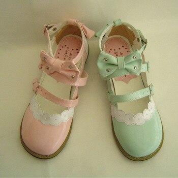 Princess sweet lolita gothic lolita lolita rhinestone cute bow flat heel shoes an8866 lolita lace flats фото