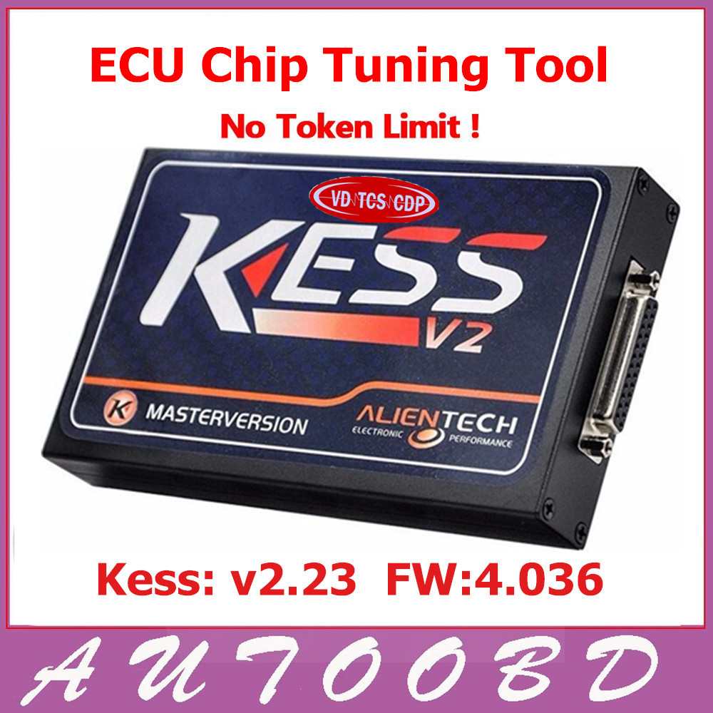 Hot Sell KESS V2 V2.23 4.036 HW V4.036 MASTER OBD2 Manager Tuning Kit No Token Limitation ECU Programming Chip Tuning Tool 2017 newest ktag v2 13 firmware v6 070 ecu multi languages programming tool ktag master version no tokens limited free shipping